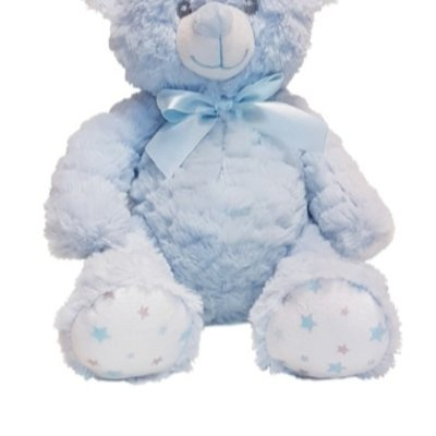 Baby.Baby Soft Blue Star Feet Teddy Bear