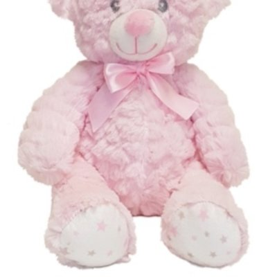 Baby.Baby Soft Pink Star Feet Teddy Bear