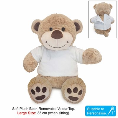 Buddy Teddy Brown Paws with T-Shirt