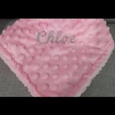 BABY BABY Plush Velour Dimple Blanket White