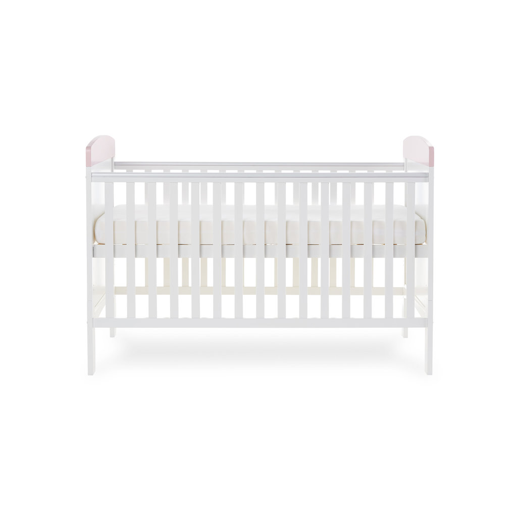 Obaby Grace Inspire Cot Bed- Me and Mini Me Elephants Pink
