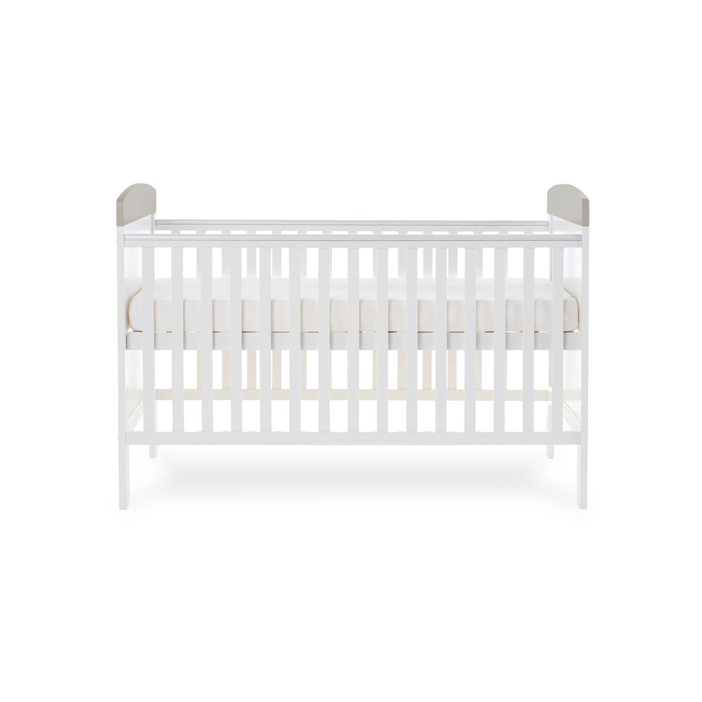 Obaby Obaby Grace Inspire Cot Bed- Me and Mini Me Elephants Grey