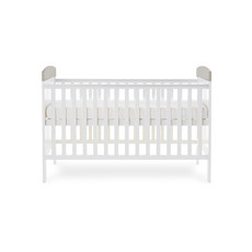 Obaby Grace Inspire Cot Bed- Mummy and Me Giraffe Grey