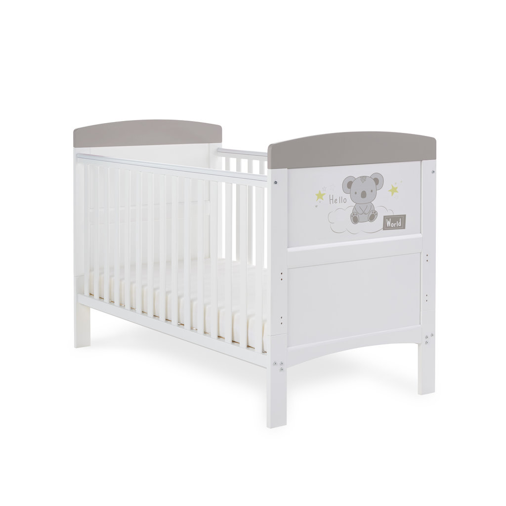Obaby Grace Inspire Cot Bed- Hello World Koala