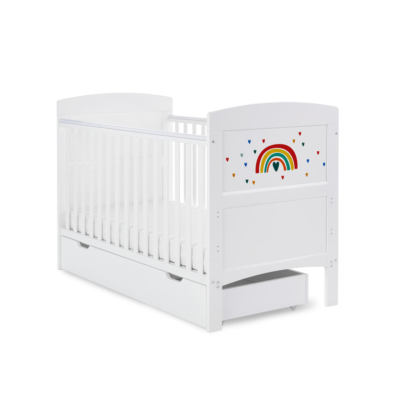 Obaby Obaby Grace Inspire Cot Bed & Underdrawer- Rainbow - Multicolour