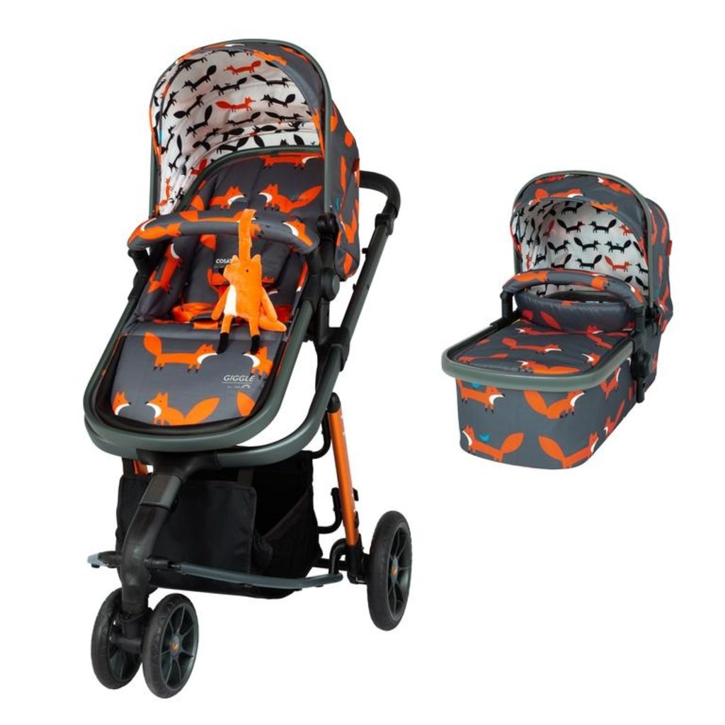 Cosatto Giggle 3 Charcoal Mister Fox