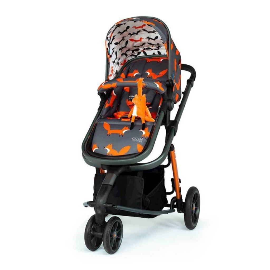 Cosatto Giggle 3 Travel System Bundle - with Hold Graphite Car Seat Charcoal Mister Fox