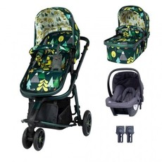 Cosatto Giggle 3 Travel System Bundle - with Hold Graphite Car Seat Into The Wild