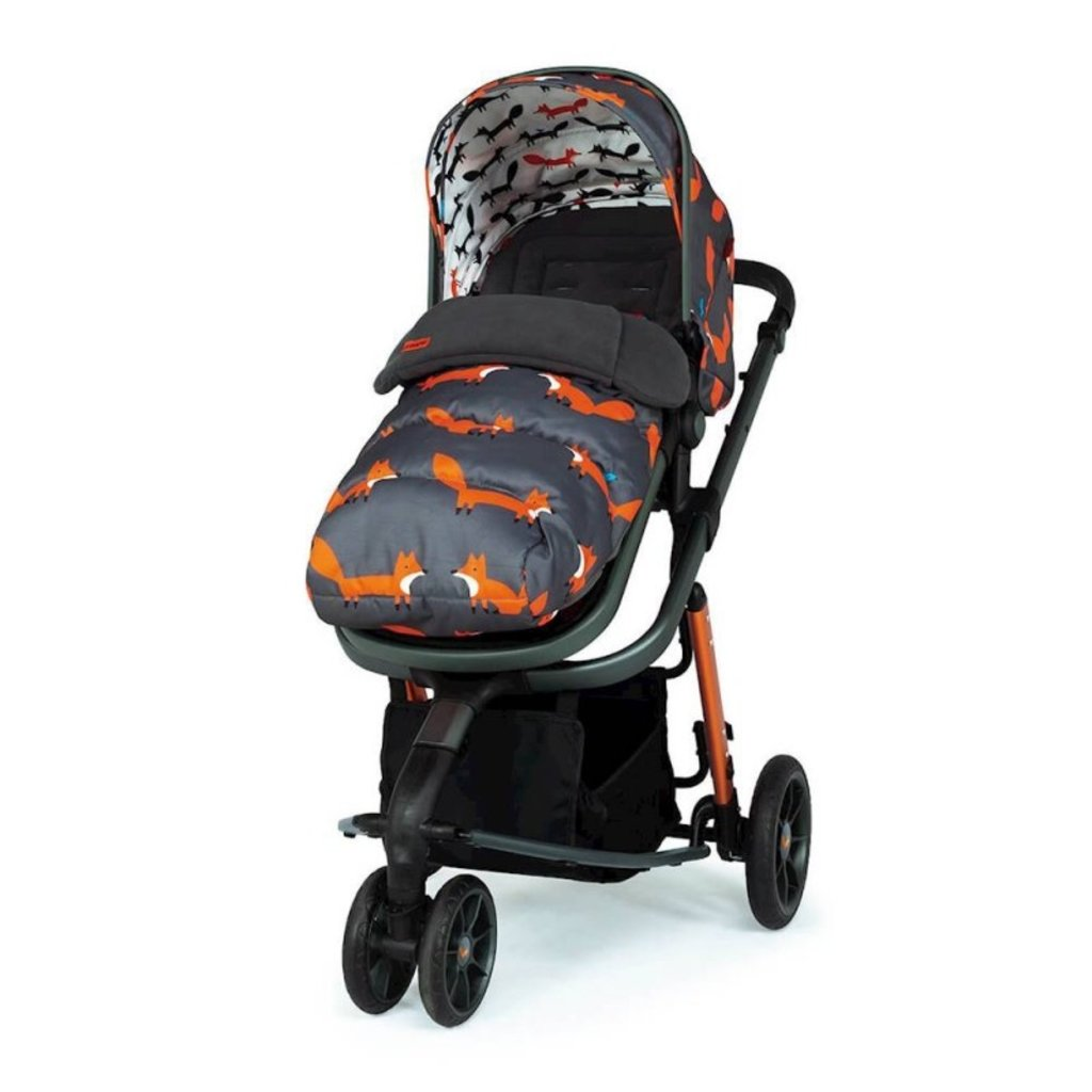 Cosatto Giggle 3 Whole 9 Yards Bundle - with Hold Graphite Car Seat Charcoal Mister Fox