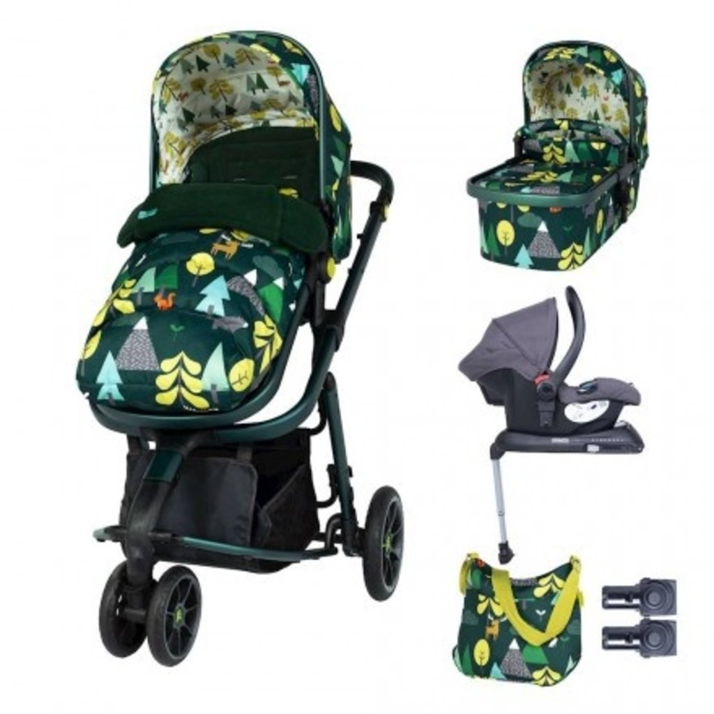 Cosatto Giggle 3 Whole 9 Yards Bundle - with Hold Graphite Car Seat Into The Wild