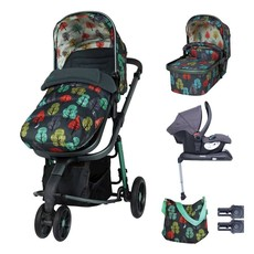 Cosatto Giggle 3 Whole 9 Yards Bundle - with Hold Graphite Car Seat Harewood