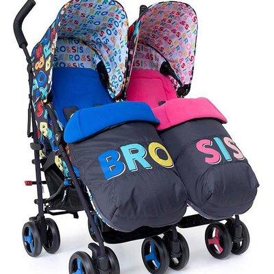 Cosatto Cosatto Supa Dupa 3 Twin Stroller - Bro & Sis 6