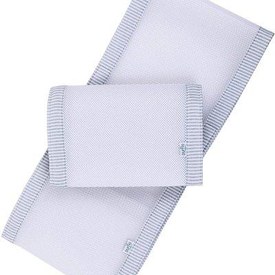 Purflo Purflo Breathable Cot Bumper Grey/White Stripe