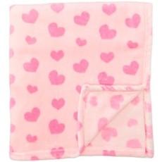 Pink Heart Fleece Blanket