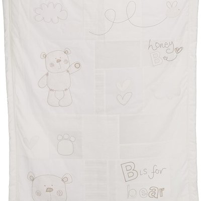 Obaby B is for Bear Quilt & Bumper 2 Piece Neutral