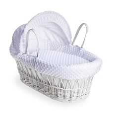 Cuddles Cuddles White Wicker White Dimples Moses Basket