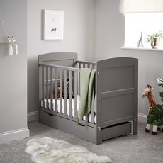 Obaby Grace Mini Cot Bed & Under Drawer Taupe Grey