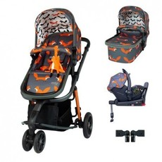 Cosatto Giggle 3 Car Seat and i-Size Base Bundle Charcoal Mister Fox