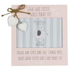 "Petit Cheri Petit Cheri Frame With Hearts Pink 6""x4"""