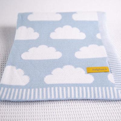Babyboo Blankieboo Organic Cotton Blanket- Blue Clouds
