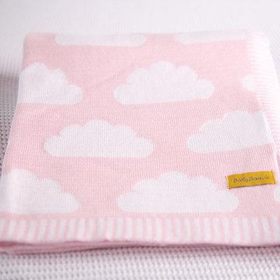 Babyboo Blankieboo Organic Cotton Blanket- Pink Clouds