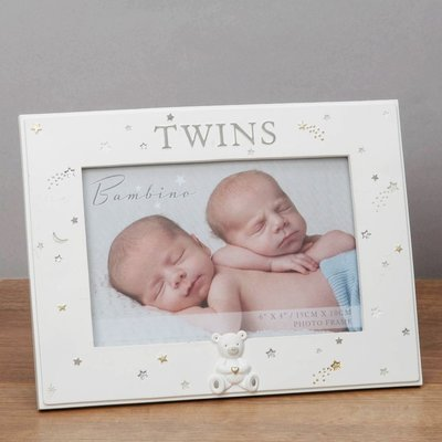 "Bambino Bambino Twins Photo Frame  6""x4"""