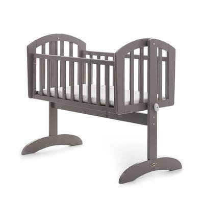 Obaby Sophie Swing Crib Taupe Grey & Mattress