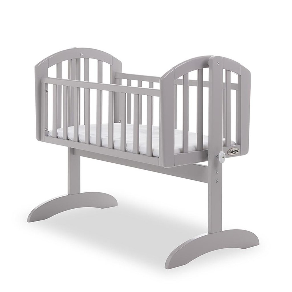 Obaby Sophie Swing Crib Warm Grey & Mattress