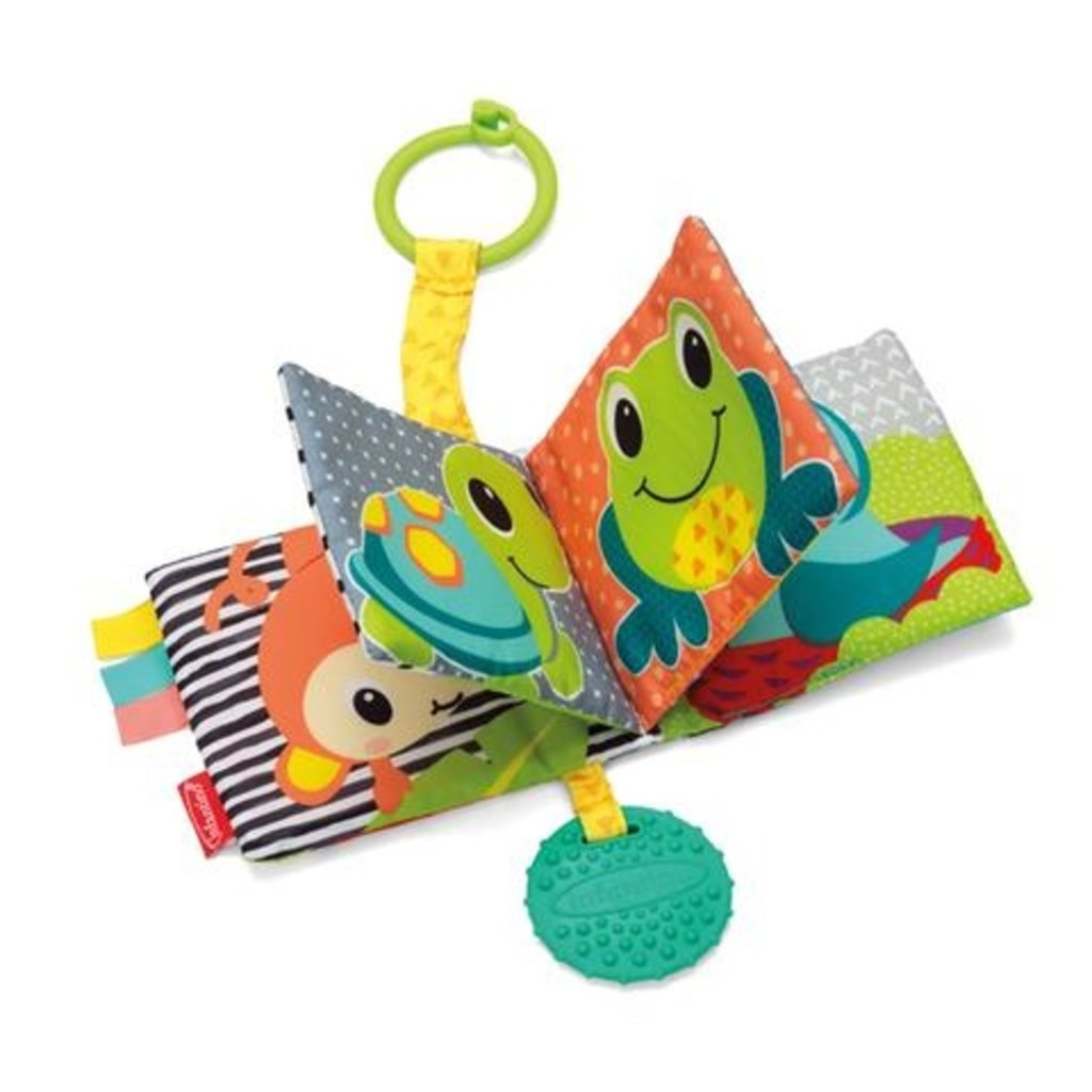 Infantino Infantino Link and Squeak Animal Crinkle Book