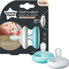 Tommee Tippee Tommee Tippee Breast Like Soothers 6 - 18m 2pk