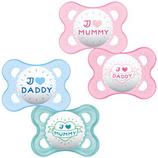 Mam MAM Style (I Love) Soothers 0M+ 2PK
