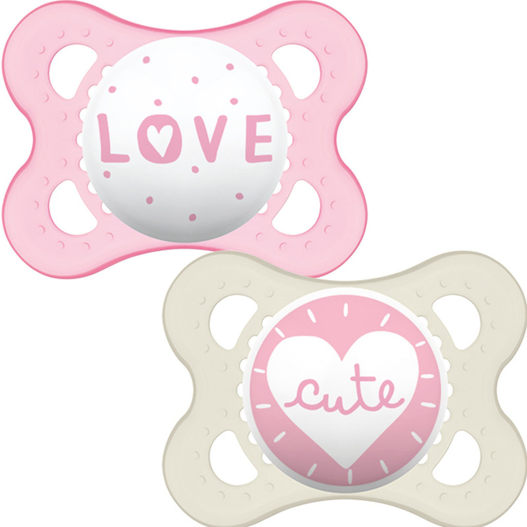 Mam MAM Style Soother Pink 0m+2pk