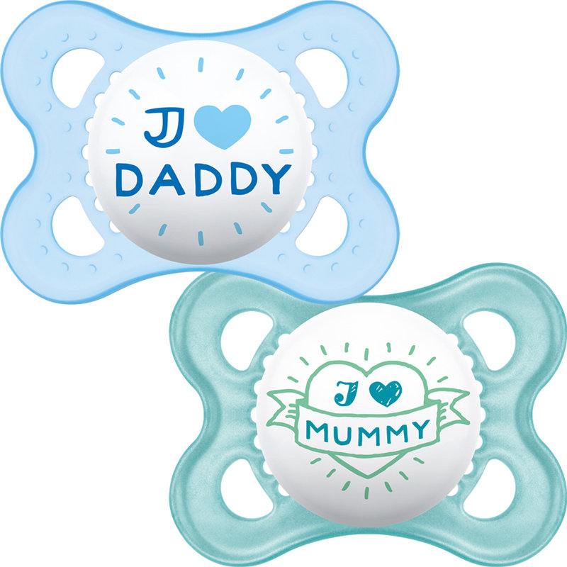 Mam MAM Style Soother Blue 0m+ 2pk