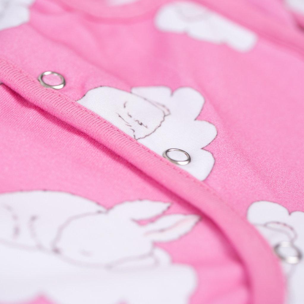 Babyboo Sleepy bunnies organic cotton SnuggleBoo sleepsuit (1 tog) - 6-12 months