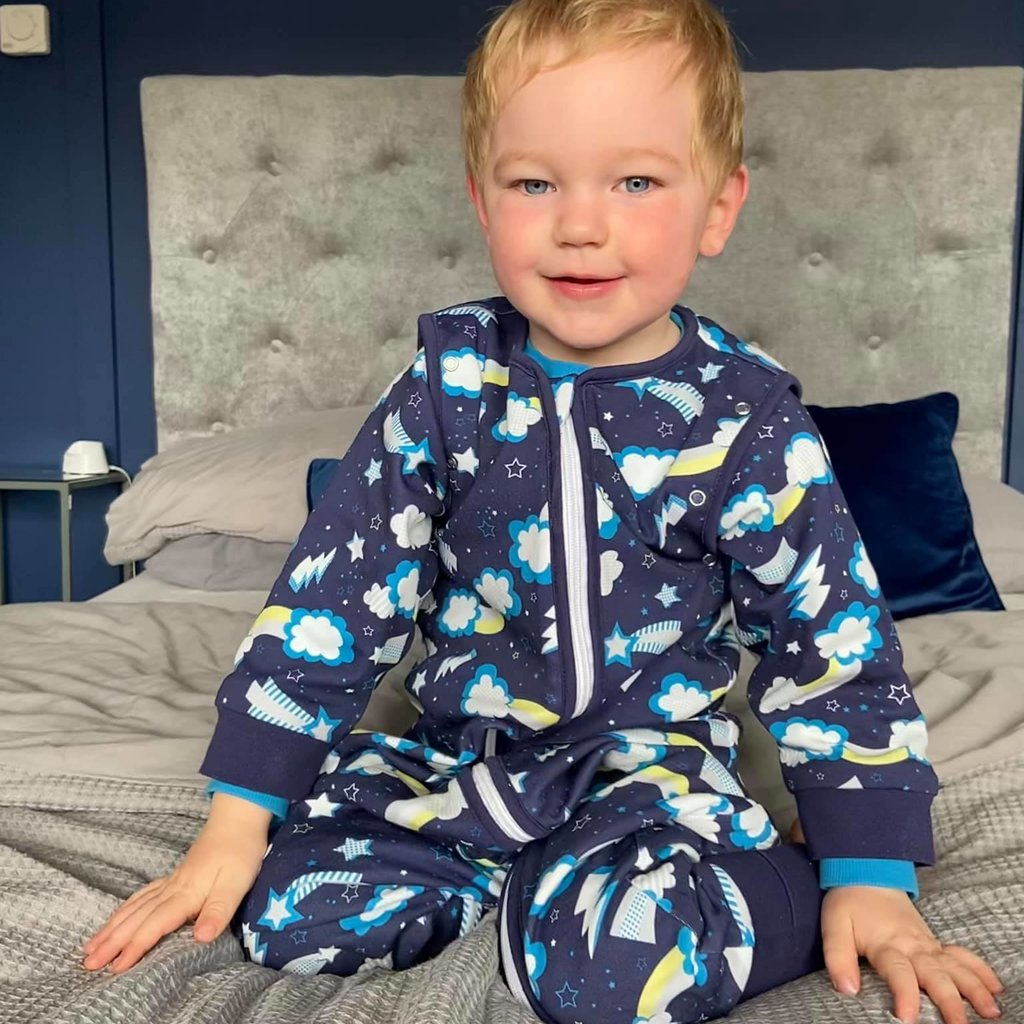 Babyboo Flash organic cotton SnuggleBoo sleepsuit (1 tog) - 1-2 years