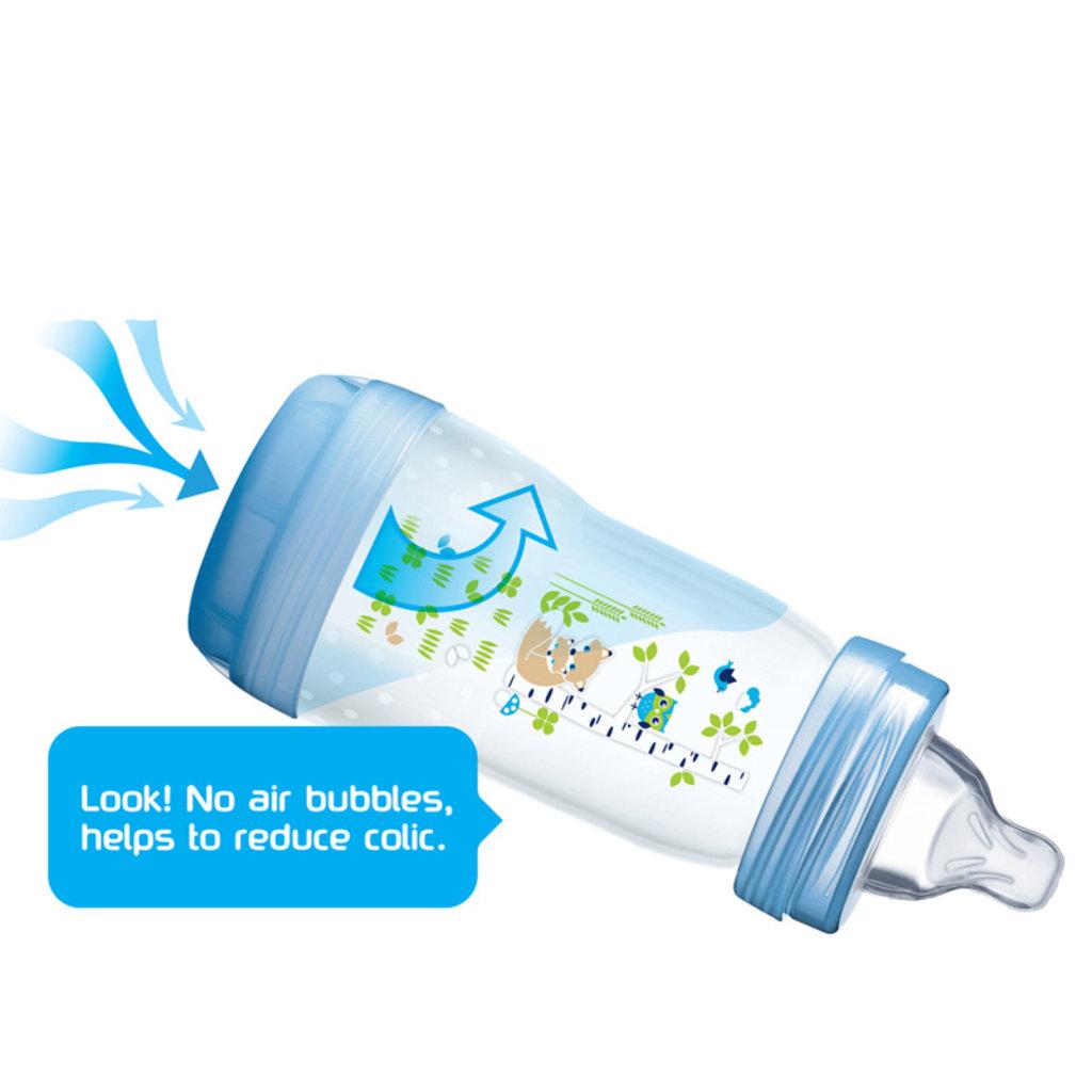 Mam MAM Anti Colic Bottle Grey 160ml 2pk