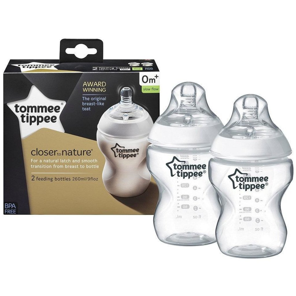 Tommee Tippee Tommee Tippee Nature Bottle 260ml 2Pk