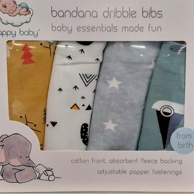 Happy Baby Bandana Dribble Bibs Sea Breeze