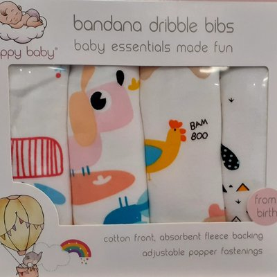 Happy Baby Bandana Dribble Bibs Baby Animals