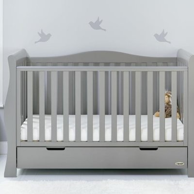 Obaby Stamford Luxe Warm Grey Cot Bed