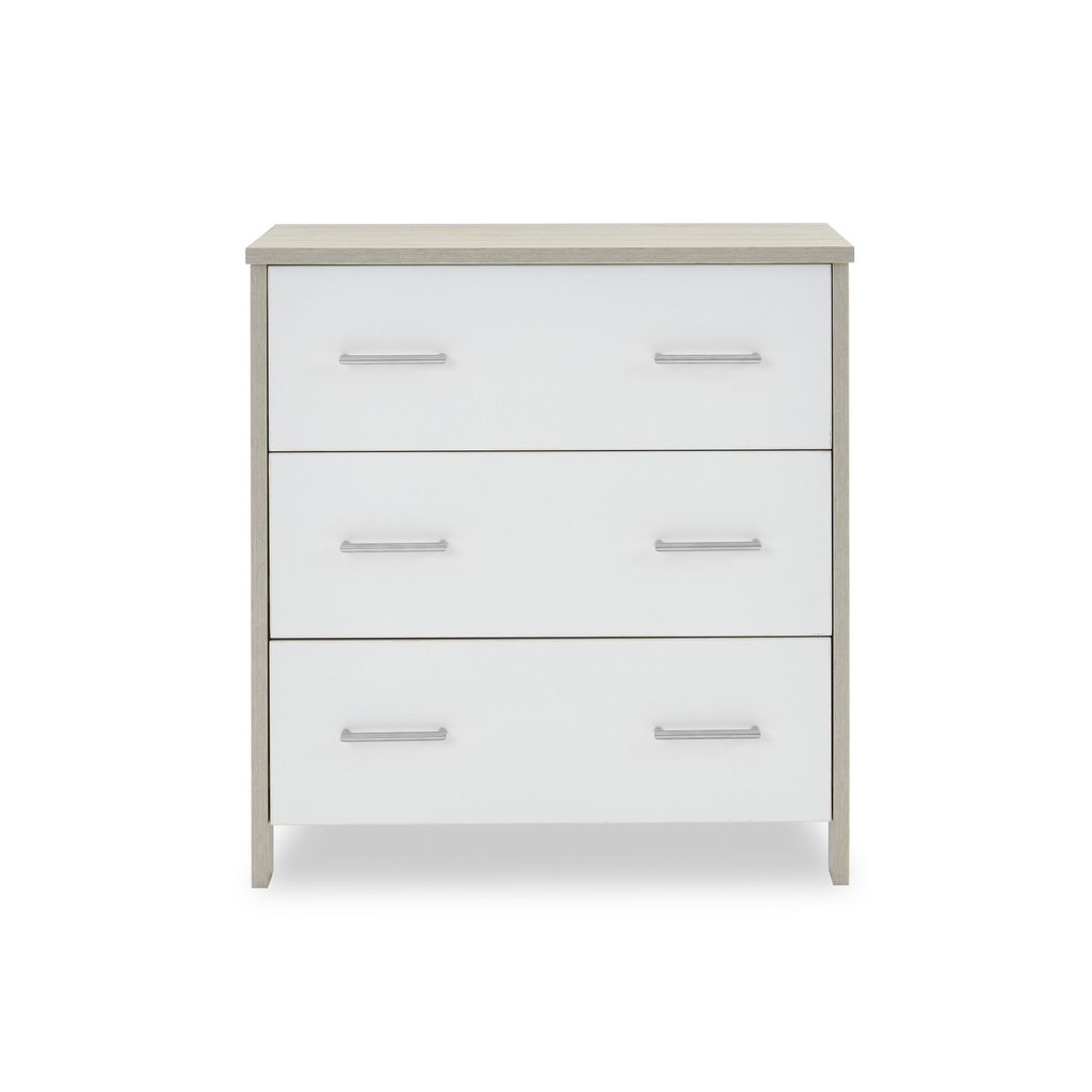 Obaby Obaby Nika Mini 3 Piece Room Set - Grey Wash & White