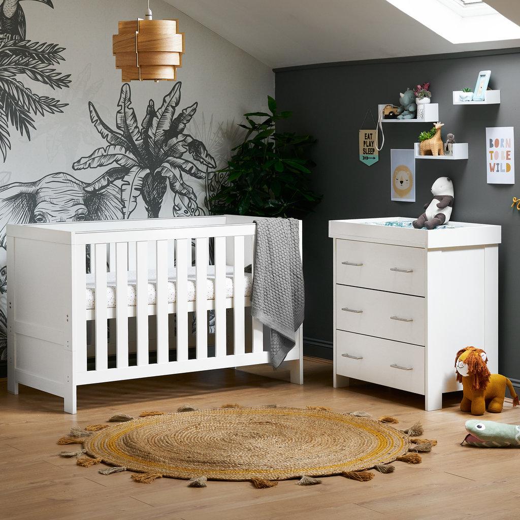Obaby Obaby Nika 2 Piece Room Set - White Wash
