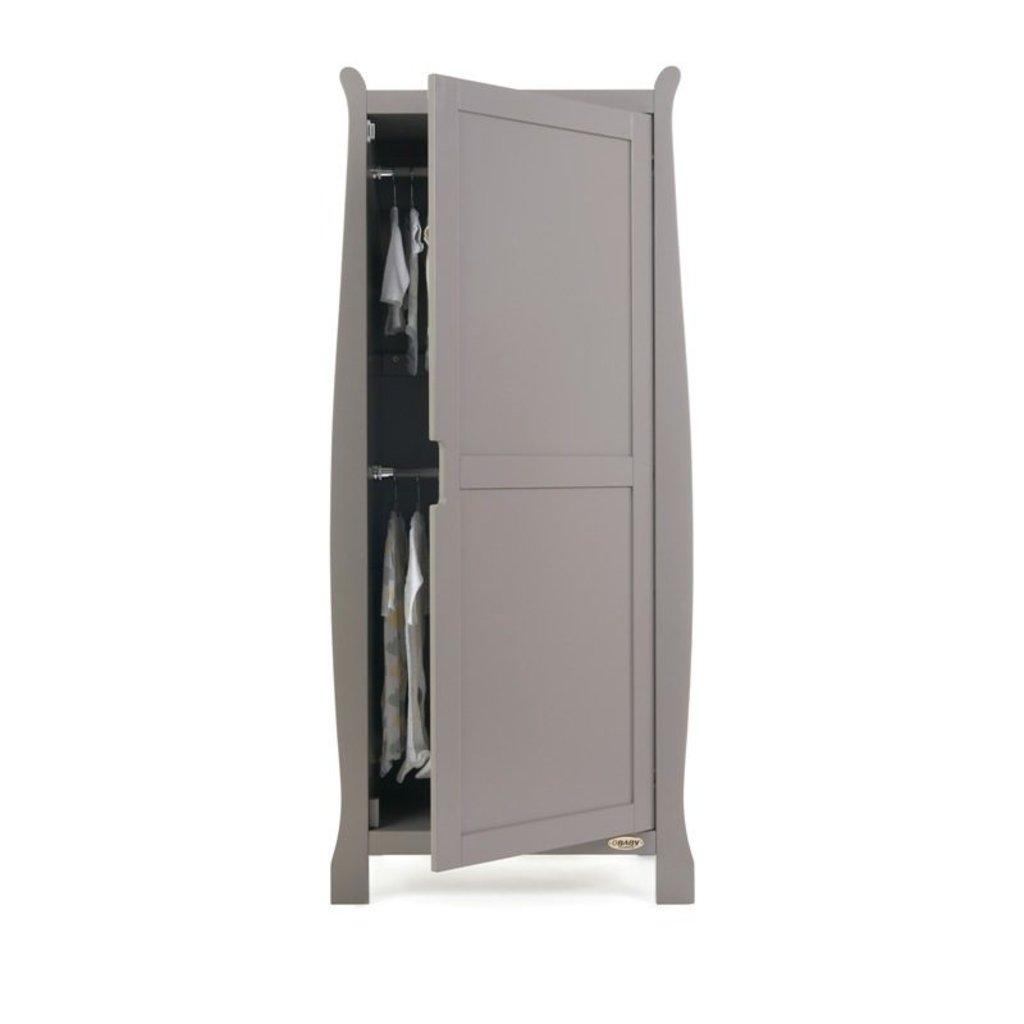 Obaby Obaby Stamford Sleigh Single Wardrobe - Taupe Grey