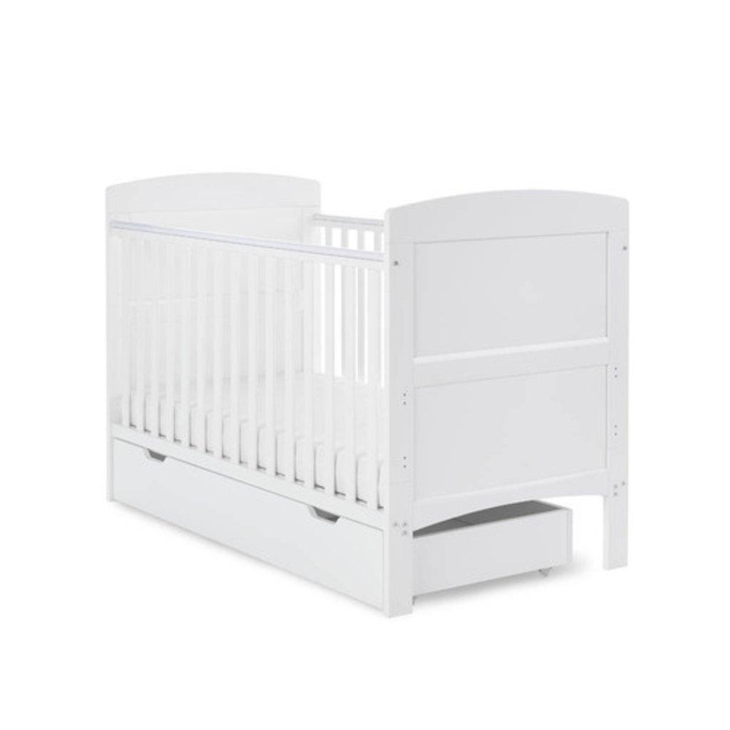 Obaby Obaby Grace Cot Bed & Under Drawer-White