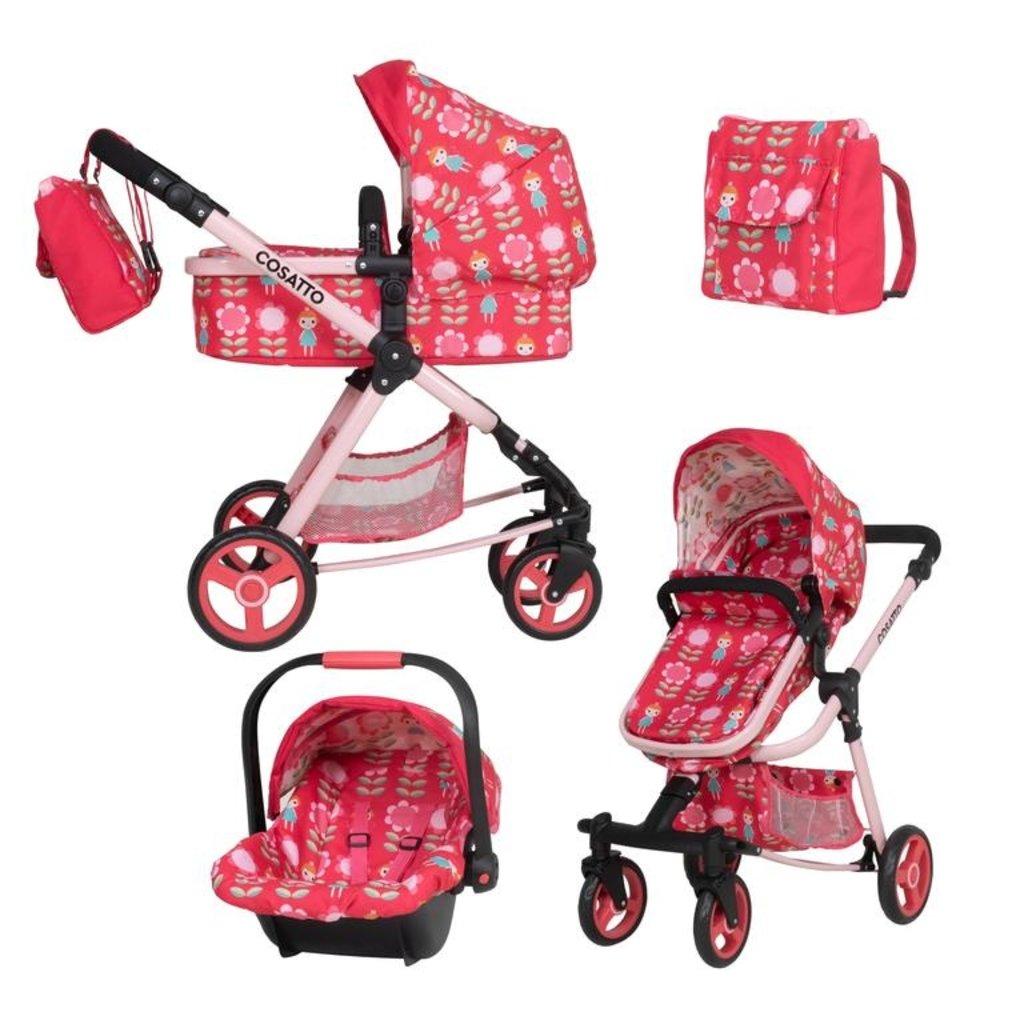 Cosatto Cosatto Giggle Quad Dolls Pram CarSeat Fairy Garden