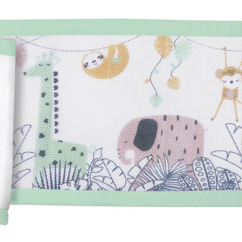 Breathable Baby Breathable  Mesh Cot Liner Rainforest