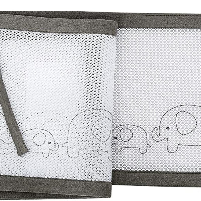 Breathable Baby Breathable Deluxe  Mesh Cot Liner Elephant Parade