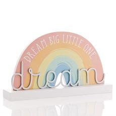 """Petit Cheri Petit Cheri Rainbow Plaque """"Dream Big Little One"""""""