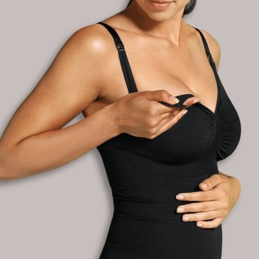 Carriwell Carriwell Nursing Top With Shapewear - Black / Large
