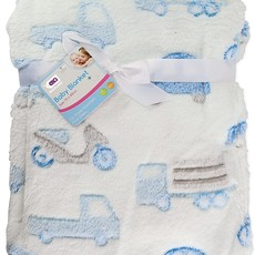 Baby Blanket Blue Automobiles